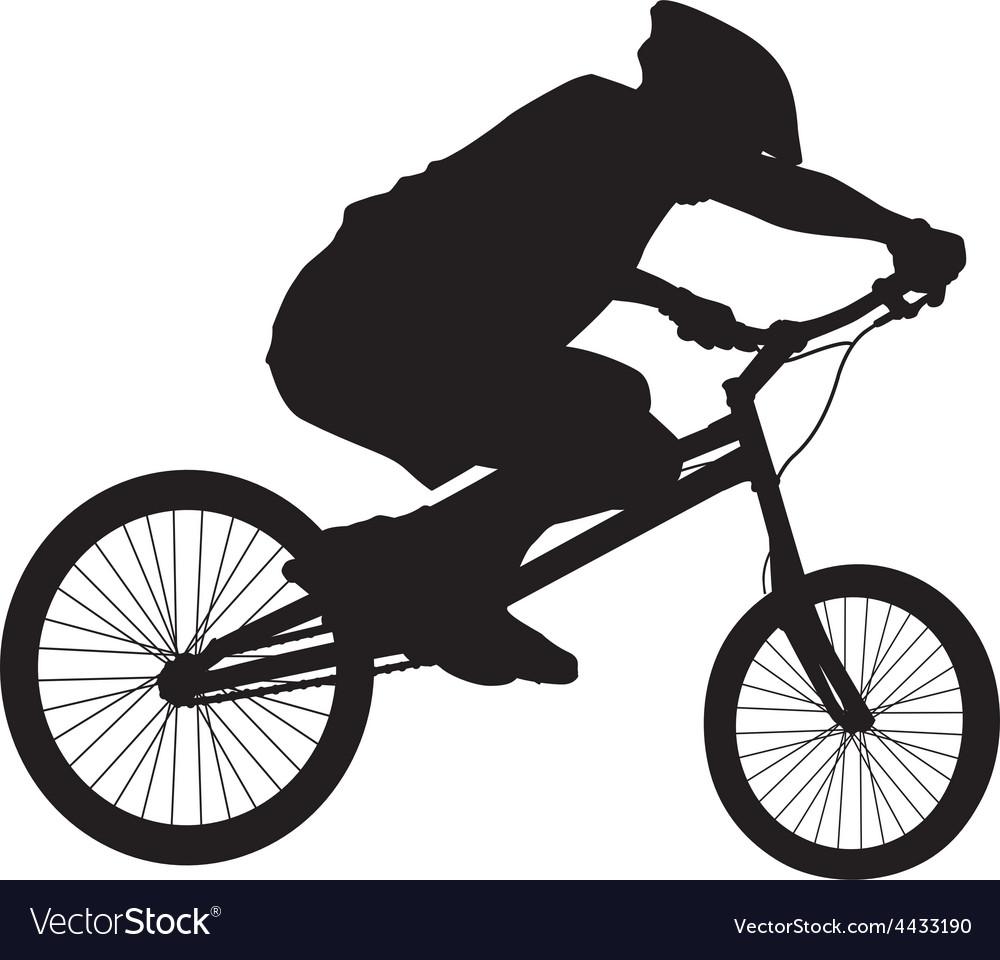 Biker silhouette vector | Price: 1 Credit (USD $1)