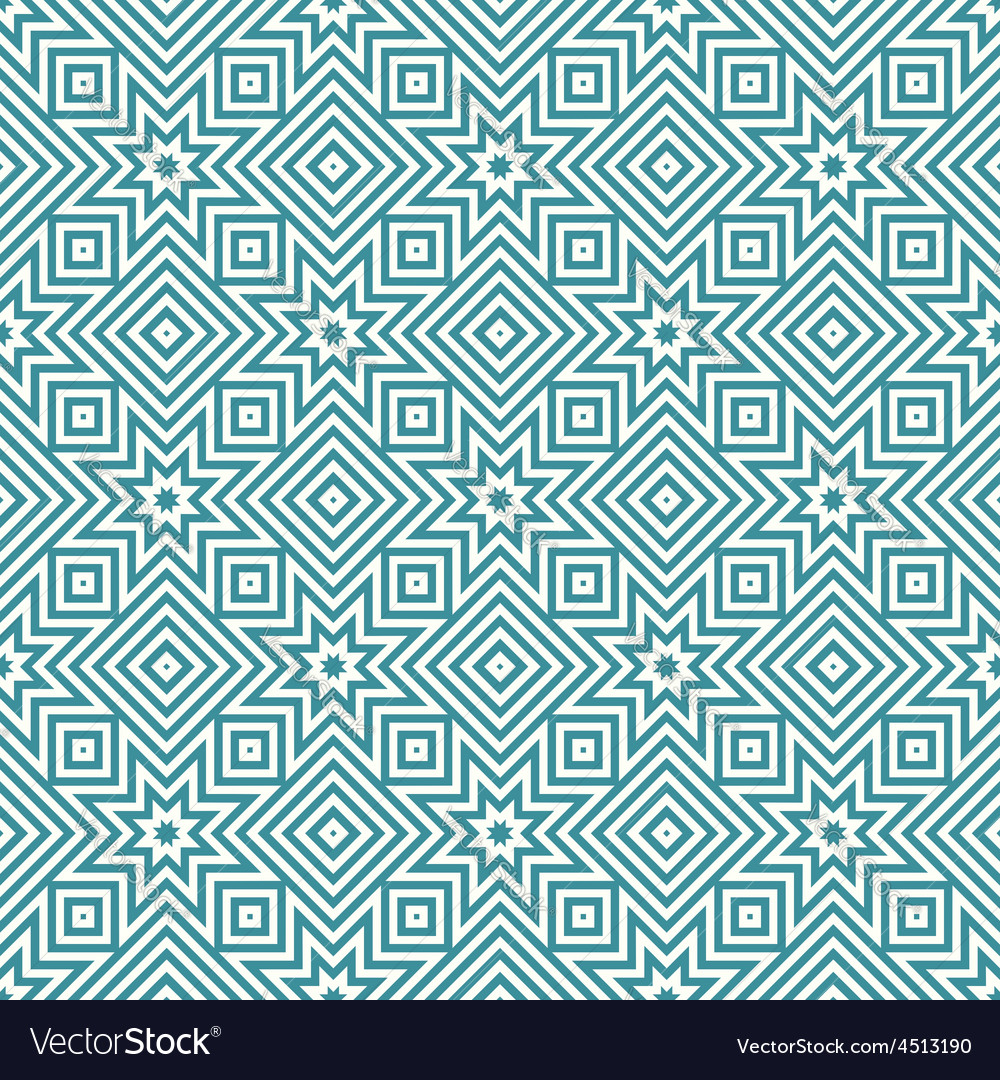 Blue and white geometric seamless patterns vector | Price: 1 Credit (USD $1)