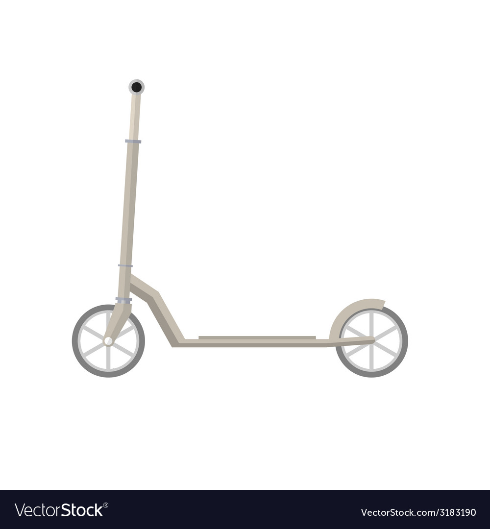 Flat of gray kick scooter vector | Price: 1 Credit (USD $1)