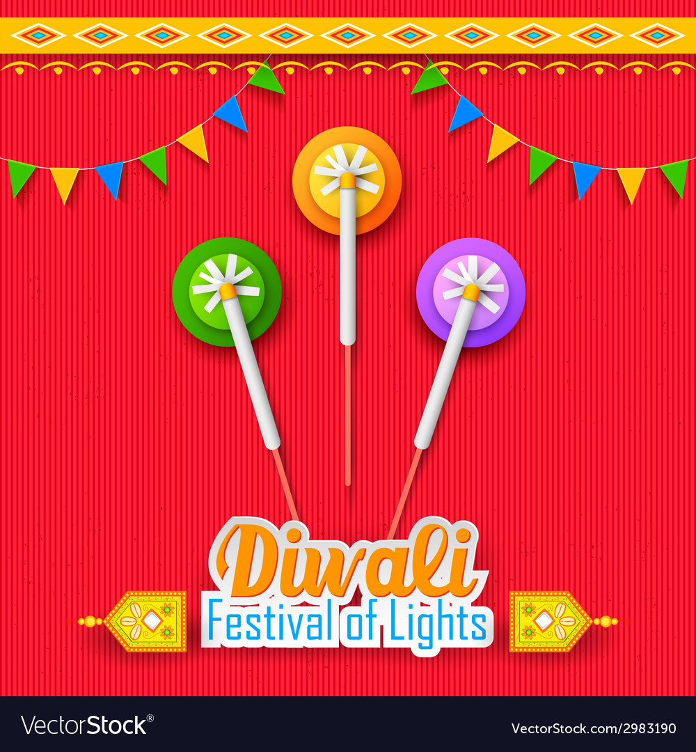 Happy diwali background vector | Price: 1 Credit (USD $1)
