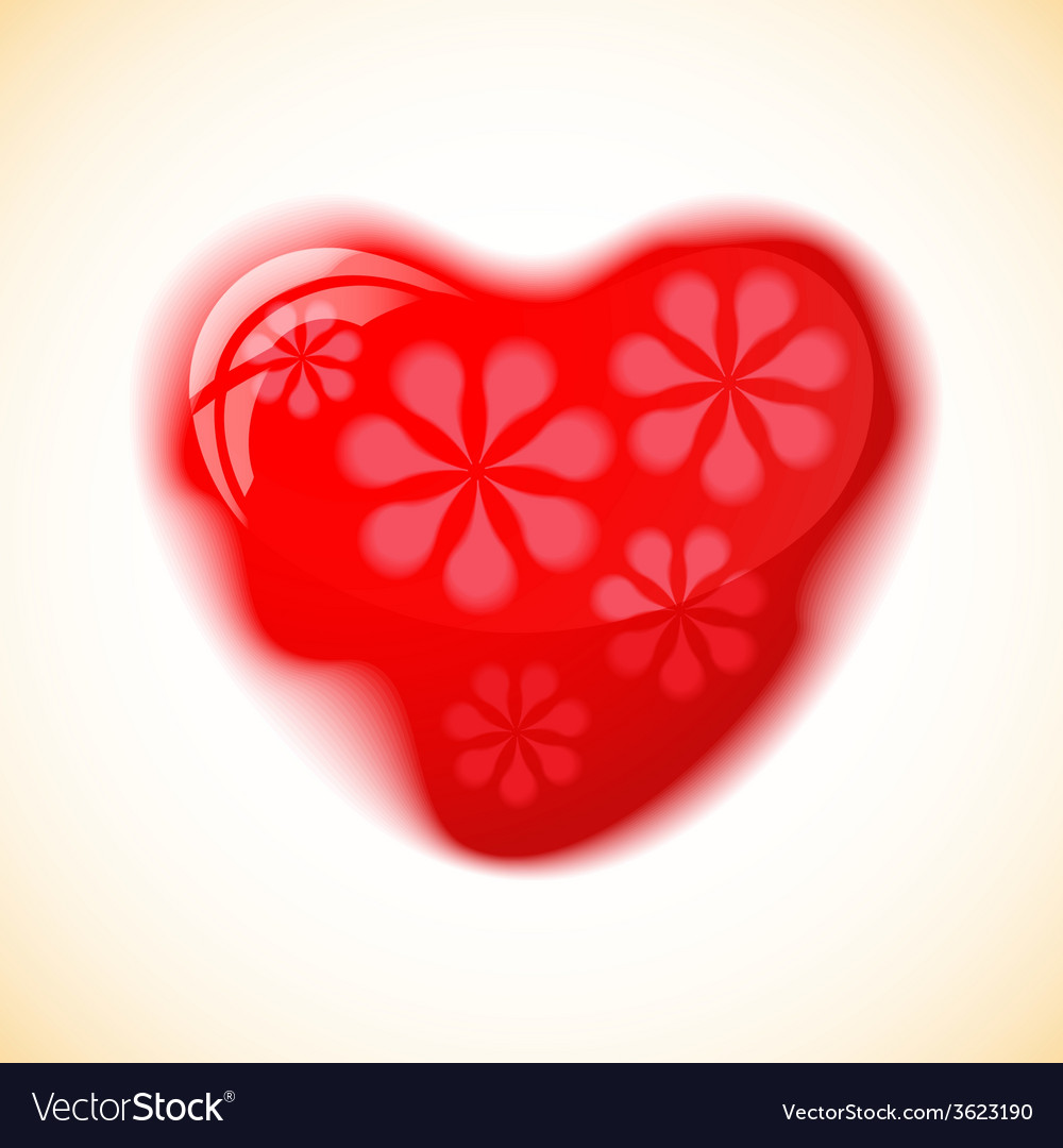 Heart red shape on colorful background vector | Price: 1 Credit (USD $1)
