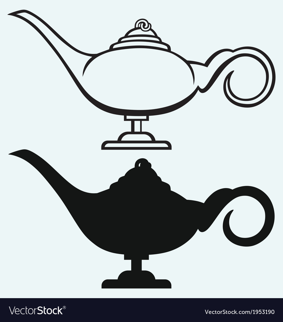 Lamp aladdin vector