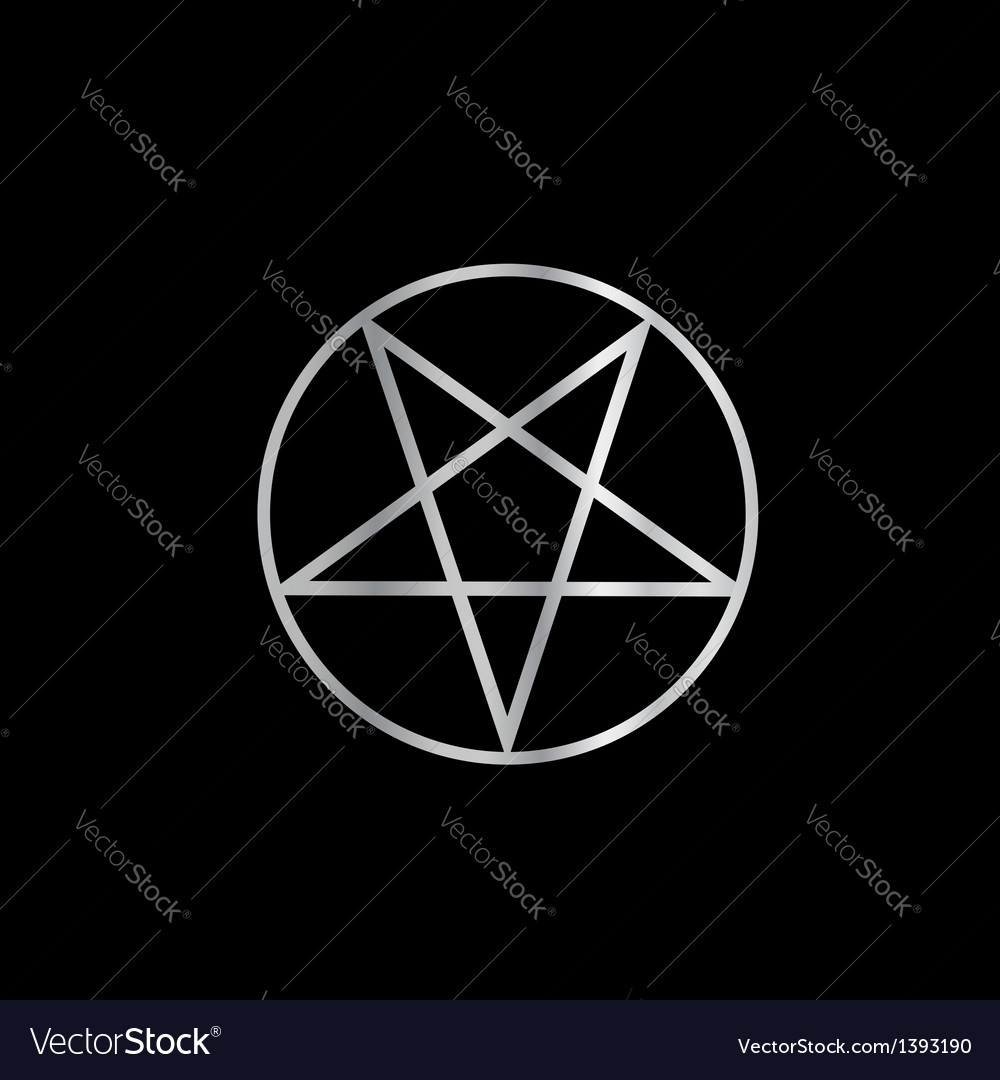 Pentacle- religious symbol of satanism vector | Price: 1 Credit (USD $1)