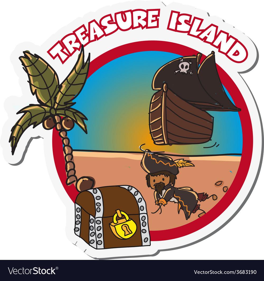 Pirate label vector | Price: 1 Credit (USD $1)