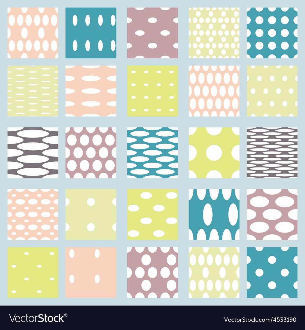 Set of elegant polka dot patterns vector | Price: 1 Credit (USD $1)