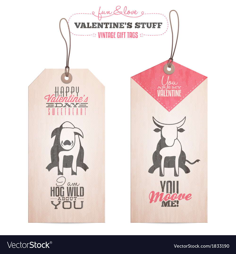Set of valentines day gift tags vector | Price: 1 Credit (USD $1)