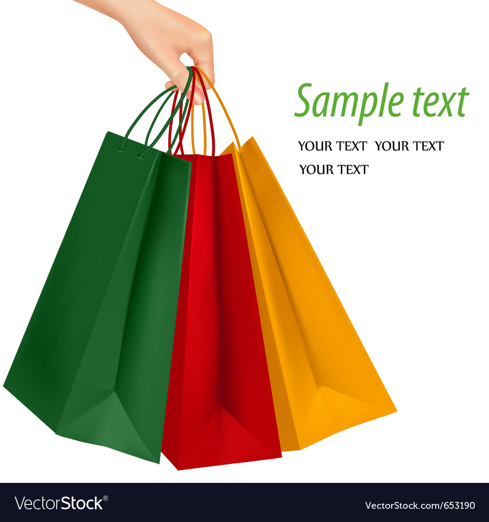 Shopping bags vector | Price: 3 Credit (USD $3)