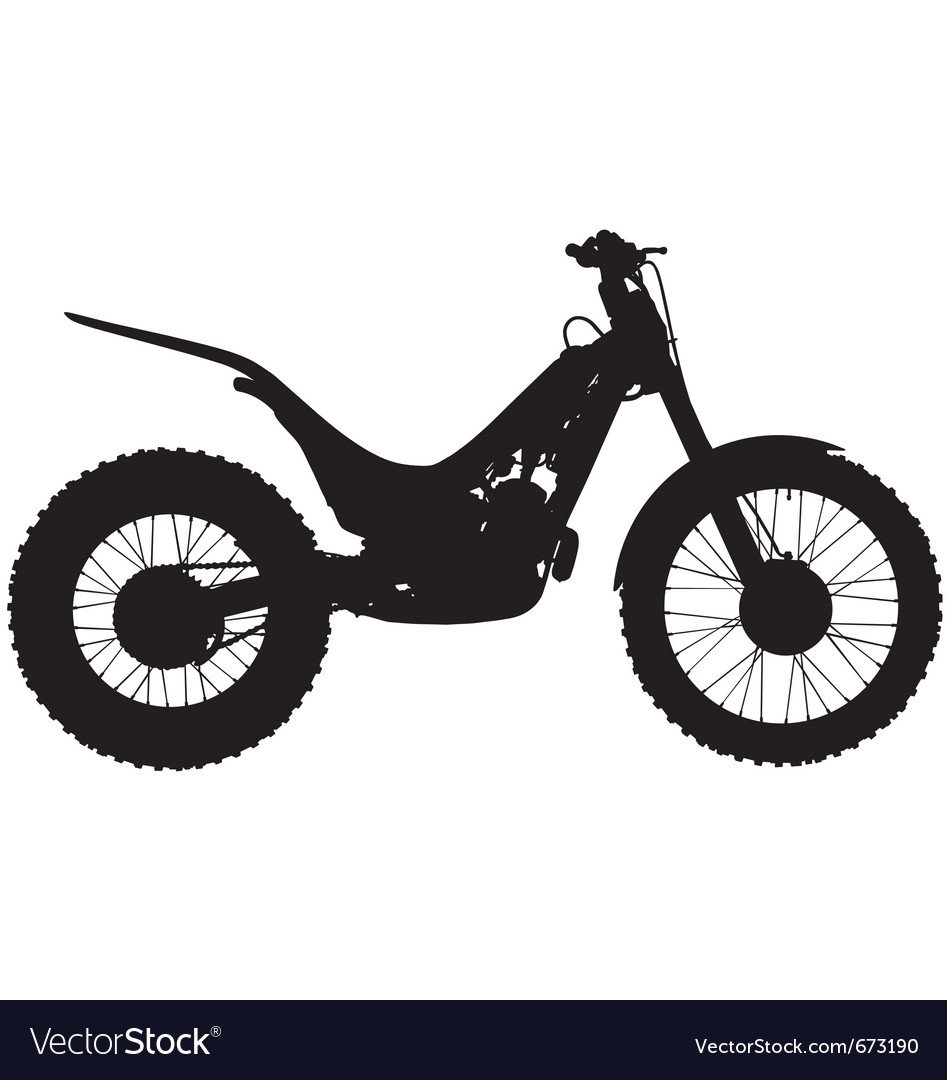 Trials motorbike silhouette vector | Price: 1 Credit (USD $1)
