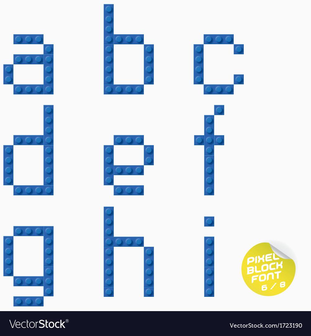 Unique pixel block alphabet vector | Price: 1 Credit (USD $1)
