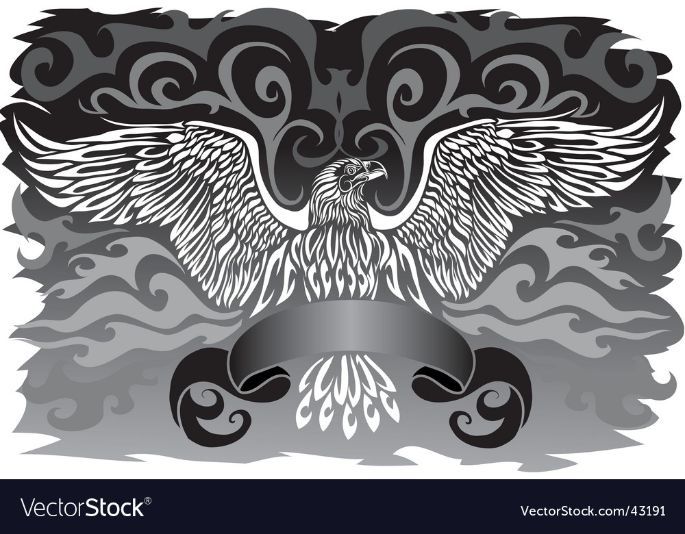 Banner with an eagle vector | Price: 1 Credit (USD $1)