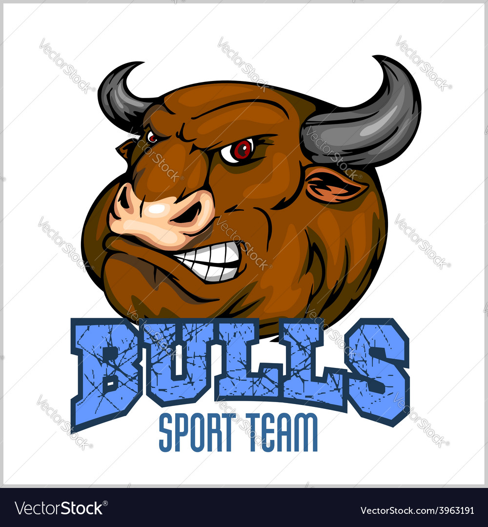 Bull head mascot - for sport vector | Price: 1 Credit (USD $1)