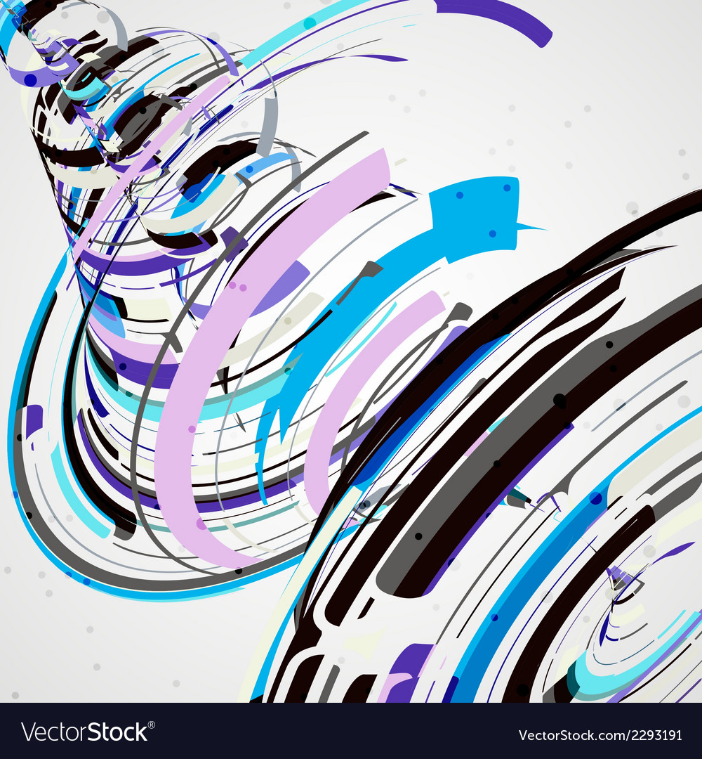 Futuristic abstract shape vector | Price: 1 Credit (USD $1)