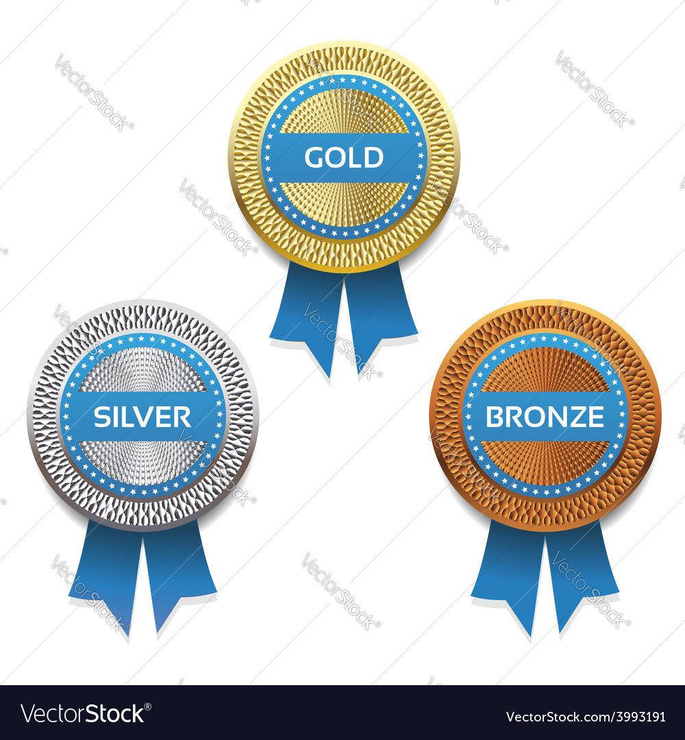 Gold silver and bronze awards eps 10 vector | Price: 1 Credit (USD $1)
