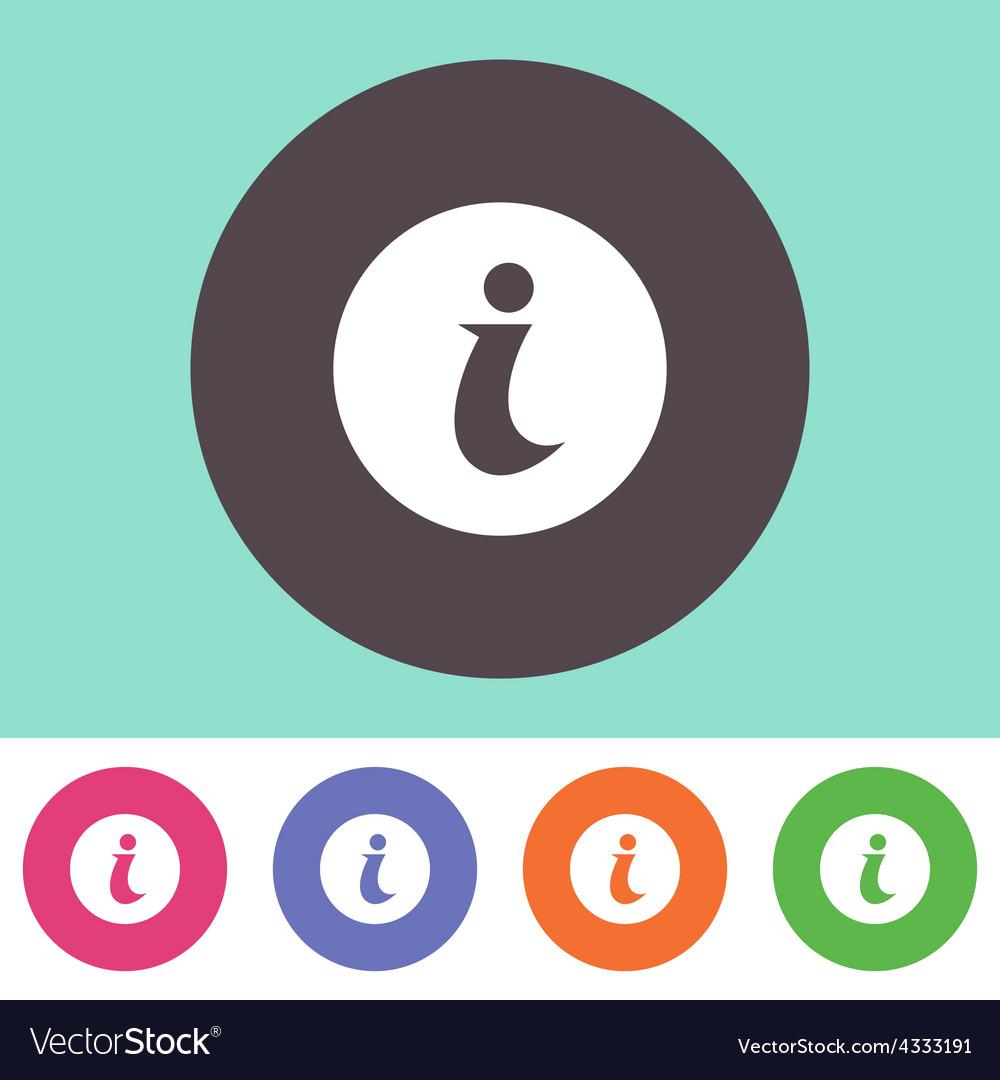Info icon vector | Price: 1 Credit (USD $1)