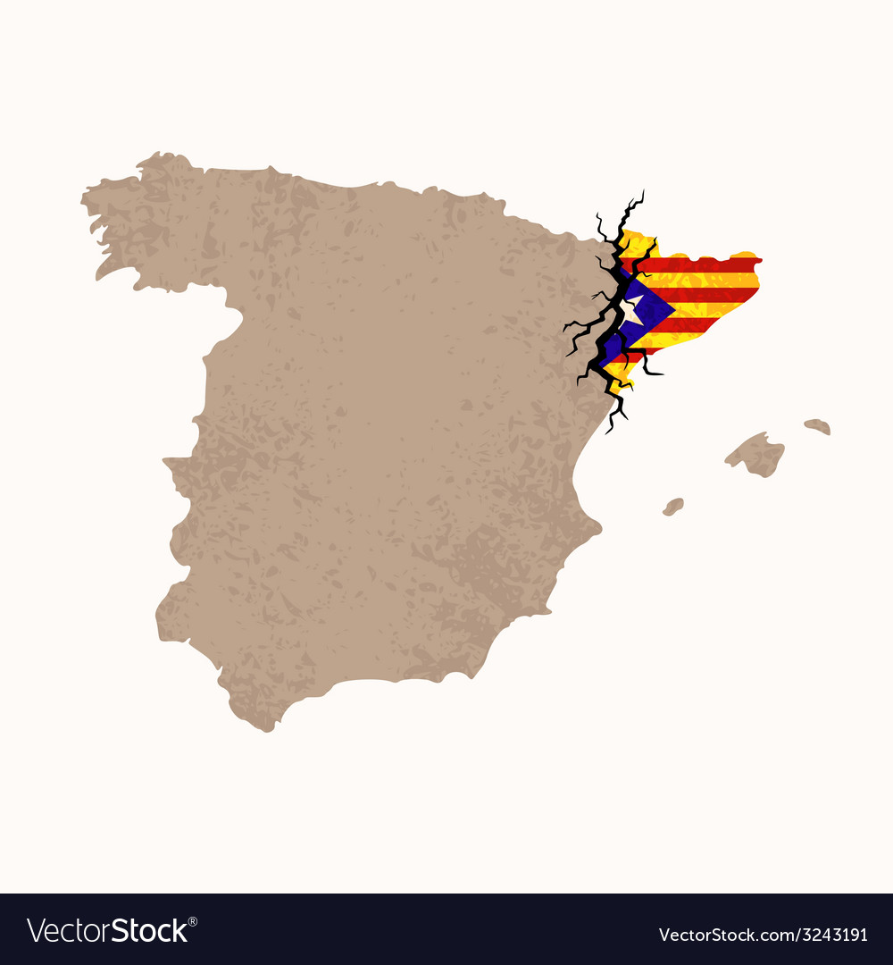 Map of catalan independence vector | Price: 1 Credit (USD $1)