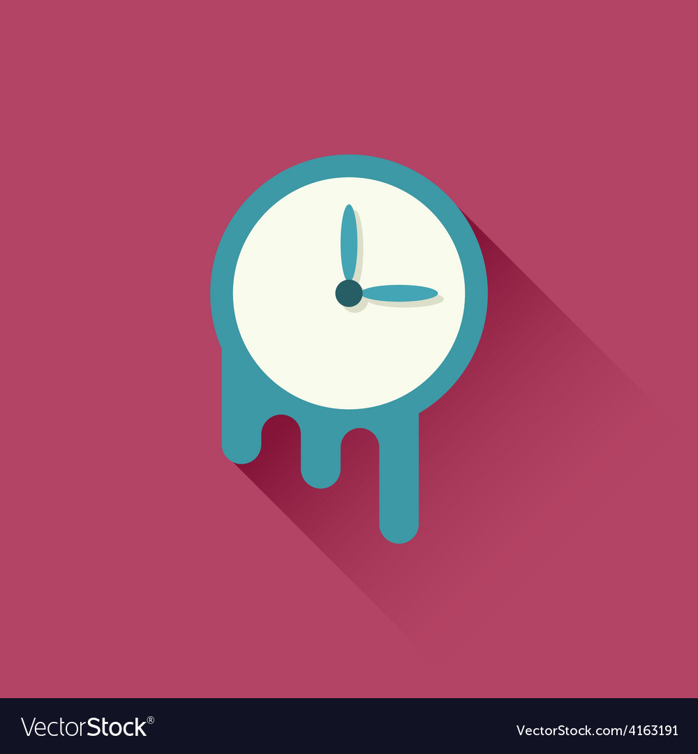 Melting clock icon vector | Price: 1 Credit (USD $1)