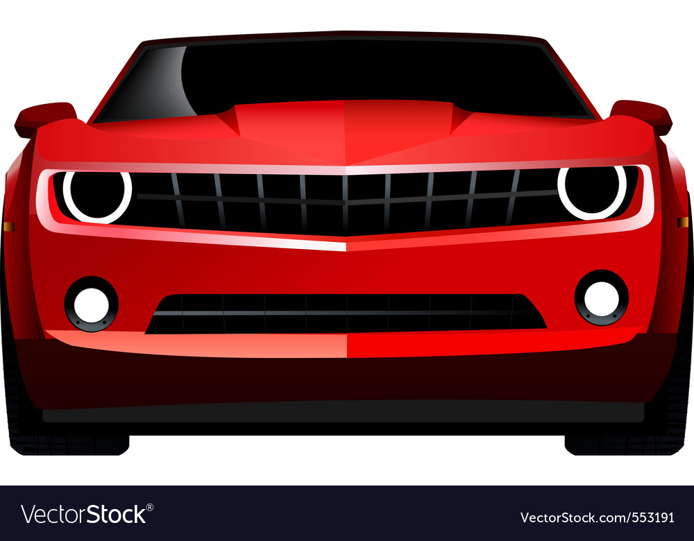 Muscle car front vector | Price: 1 Credit (USD $1)