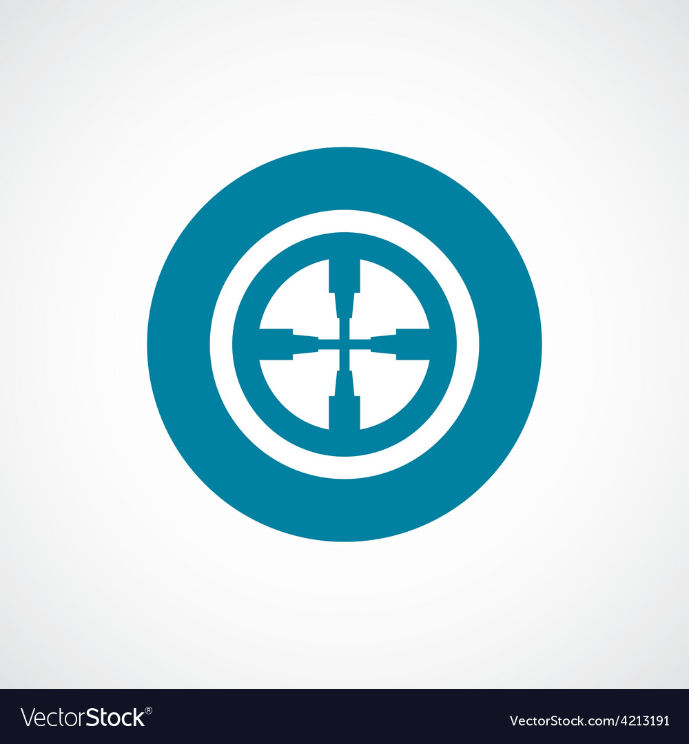 Optical sight icon bold blue circle border vector | Price: 1 Credit (USD $1)