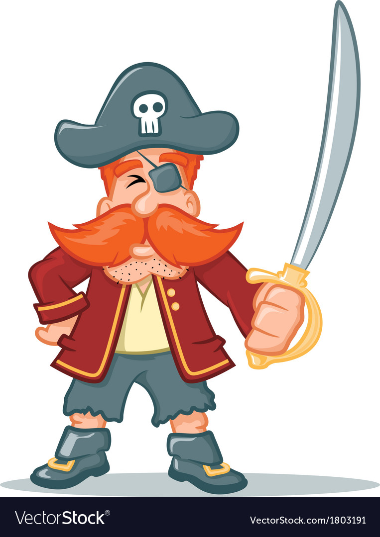 Pirate cartoon vector | Price: 1 Credit (USD $1)