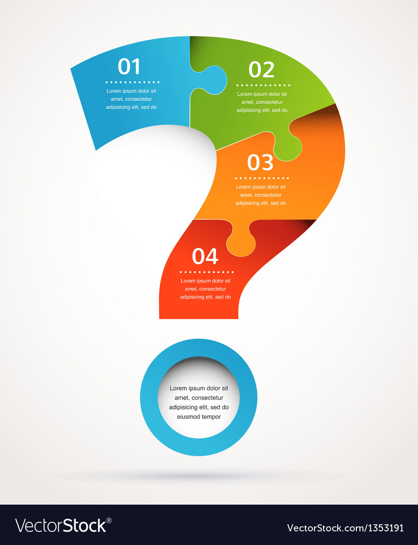 Question mark abstract design and infographics vector | Price: 1 Credit (USD $1)