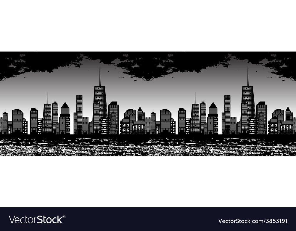 Seamless pattern of cities vector | Price: 1 Credit (USD $1)