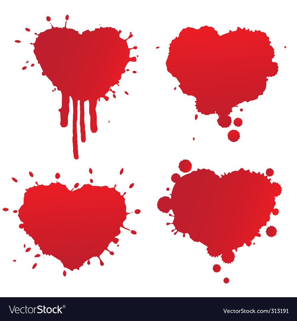 Splatter heart vector | Price: 1 Credit (USD $1)
