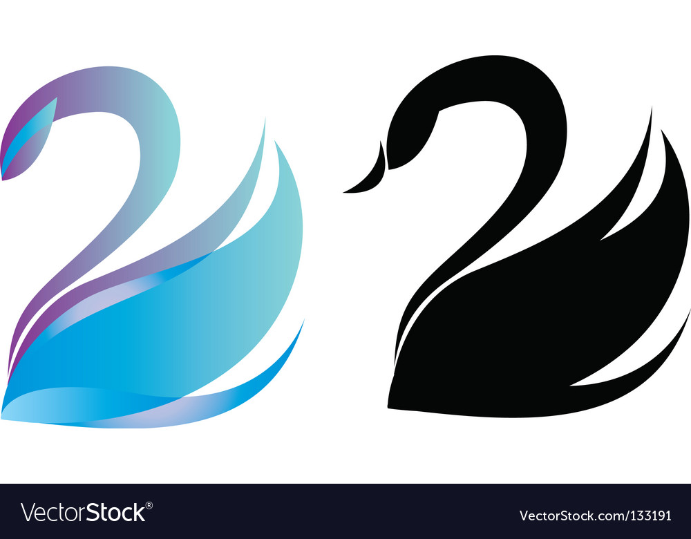 Swan logo vector | Price: 1 Credit (USD $1)