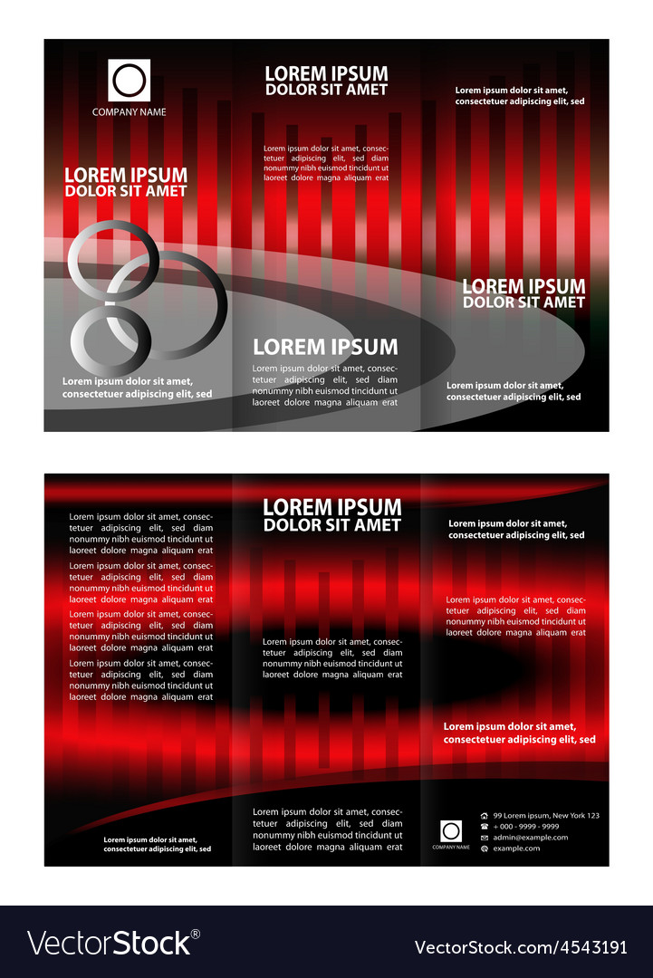 Tri-fold technology style brochure layout design t vector | Price: 1 Credit (USD $1)
