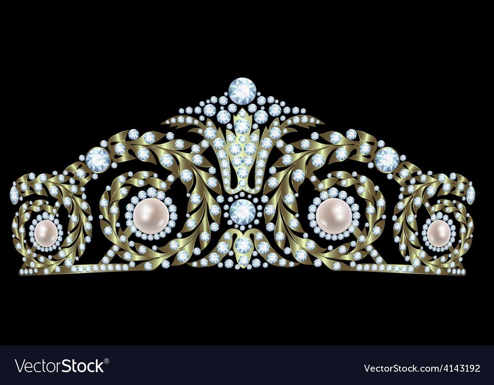Diamond tiara vector | Price: 1 Credit (USD $1)