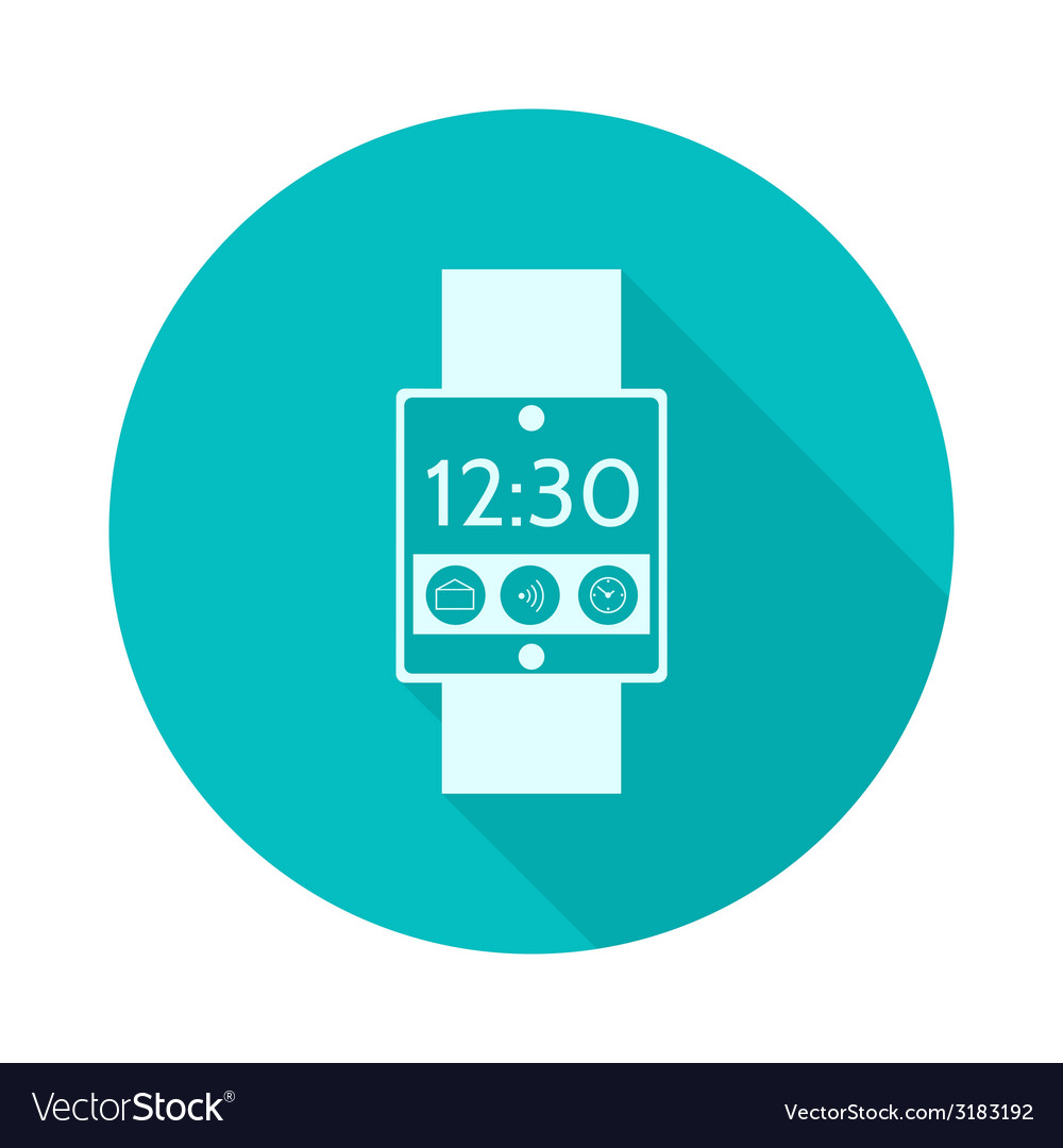 Flat icon for smart watch vector | Price: 1 Credit (USD $1)