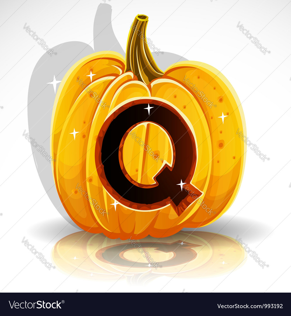 Halloween pumpkin q vector | Price: 1 Credit (USD $1)