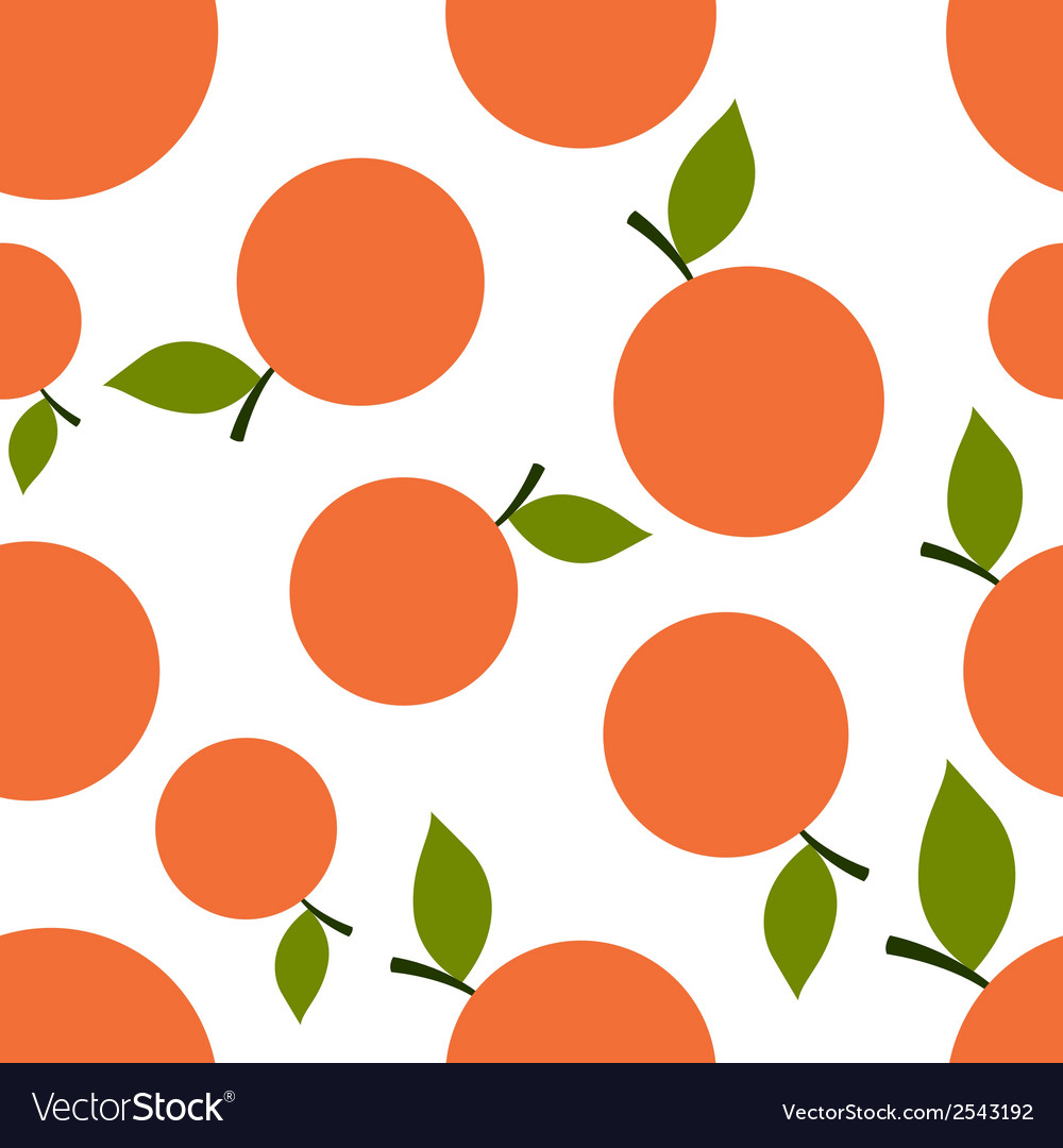 Pattern silhouette mandarines vector | Price: 1 Credit (USD $1)