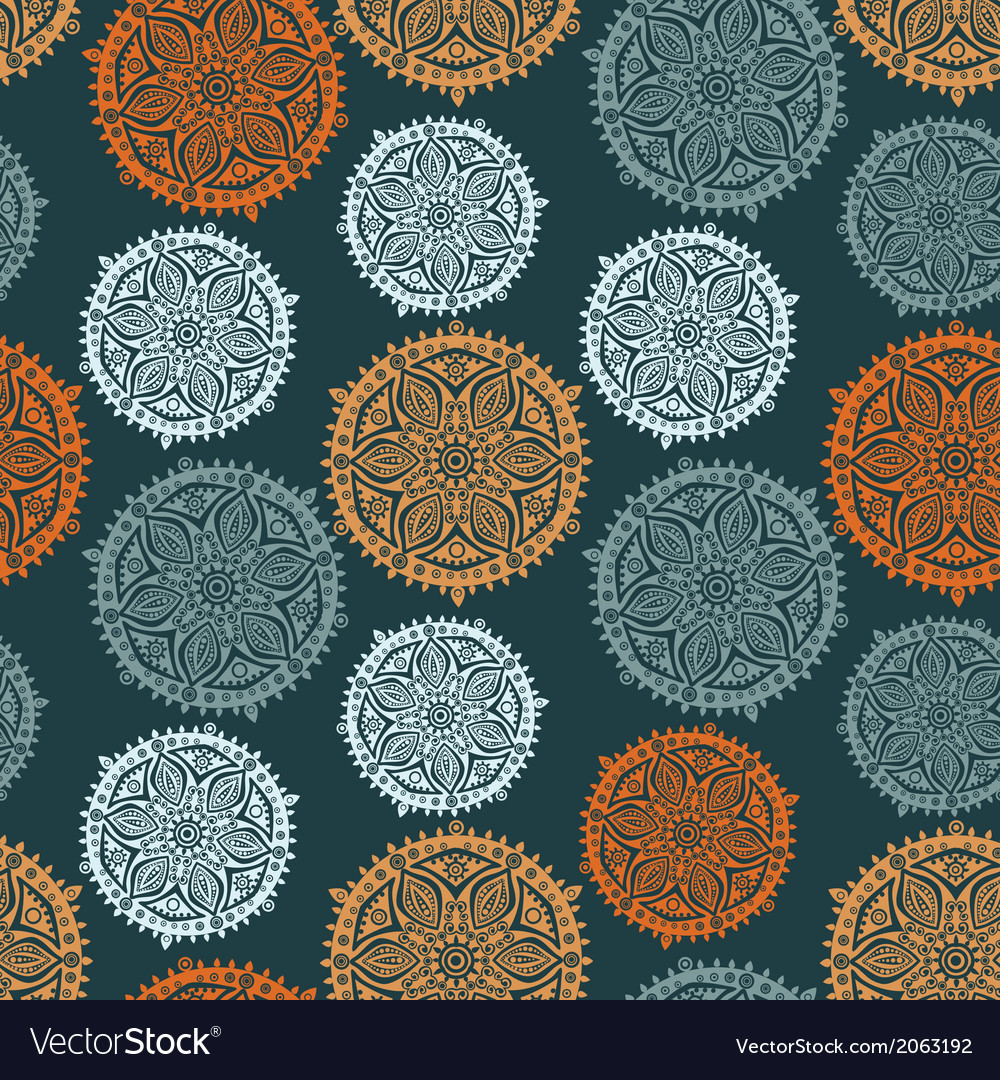 Retro background lace seamless pattern vector | Price: 1 Credit (USD $1)