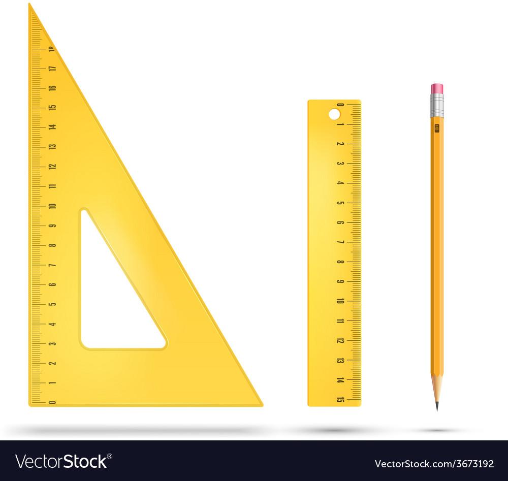 Ruler instruments vector | Price: 1 Credit (USD $1)