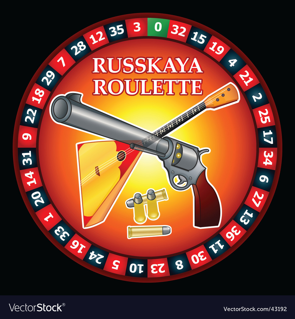 Russkaya ruletka russian roulette vector | Price: 1 Credit (USD $1)
