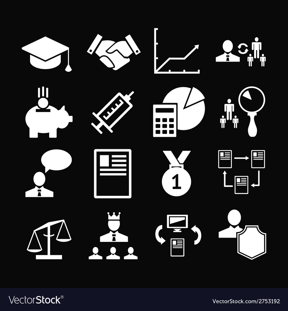 Set icons of human resources management vector | Price: 1 Credit (USD $1)