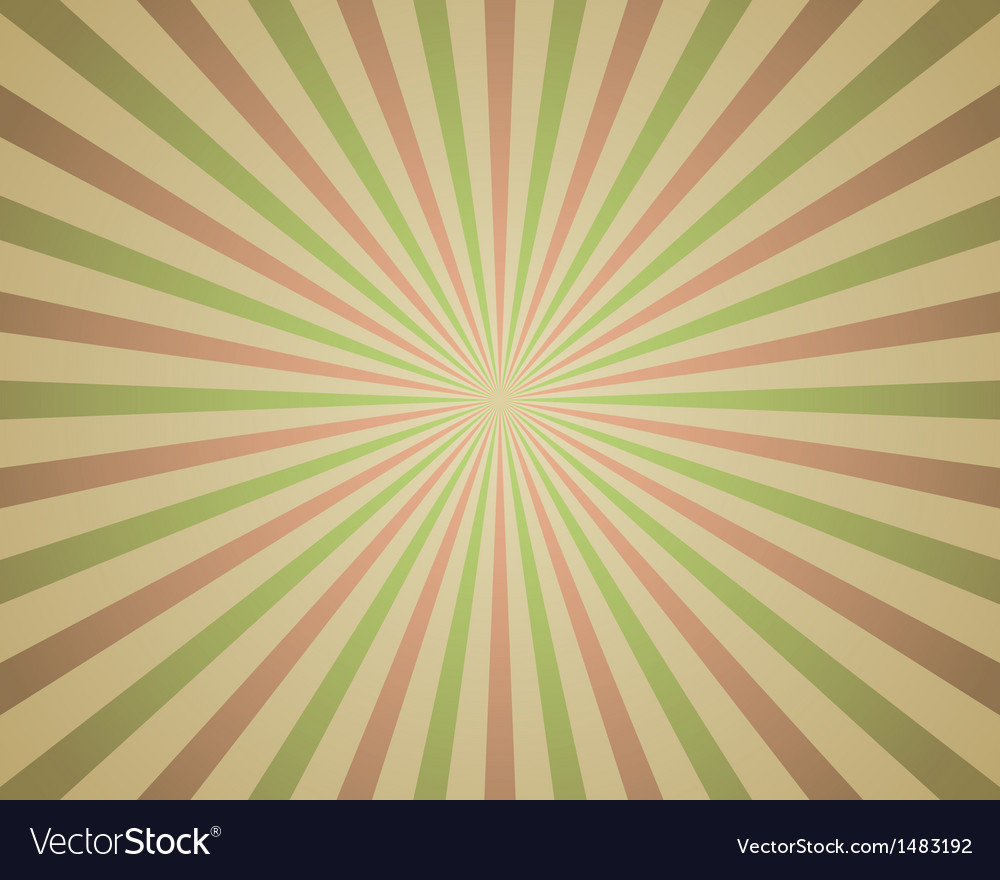 Vintage red and green rays background vector   Price: 1 Credit (USD $1)