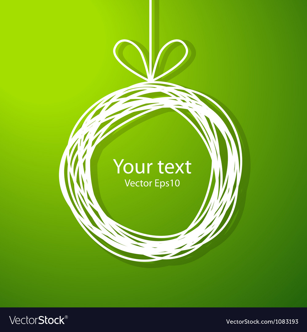 Christmas sketch frame on green background vector | Price: 1 Credit (USD $1)