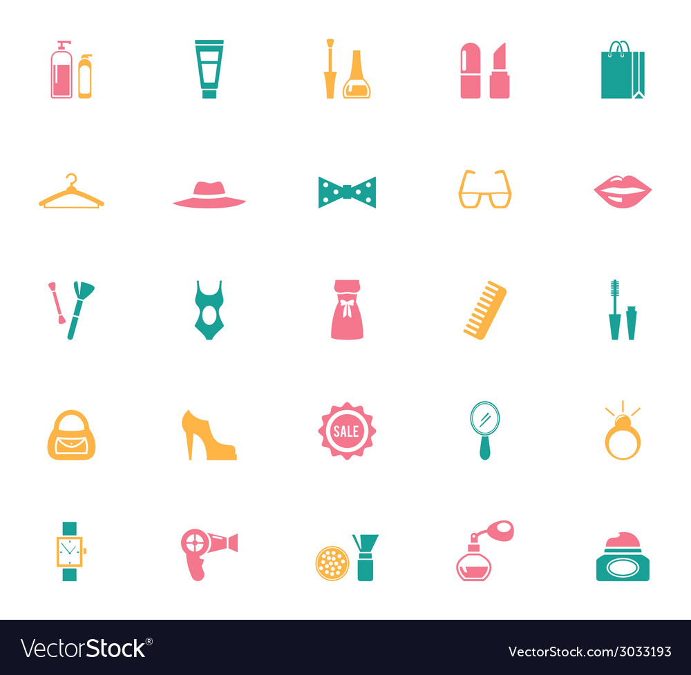 Collection of fashion and shopping icons vector | Price: 1 Credit (USD $1)