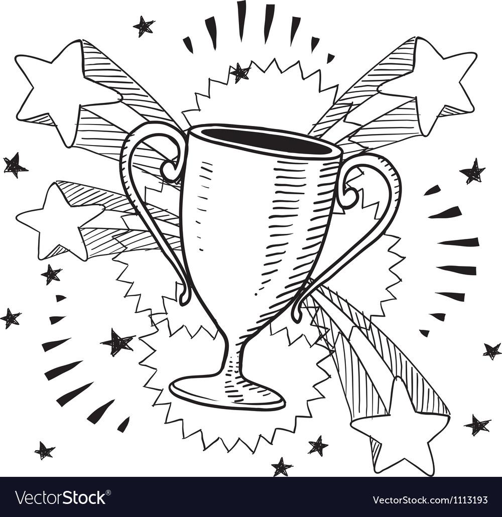 Doodle pop trophy vector | Price: 1 Credit (USD $1)