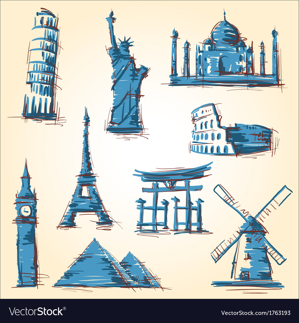 Landmark icons vector | Price: 1 Credit (USD $1)