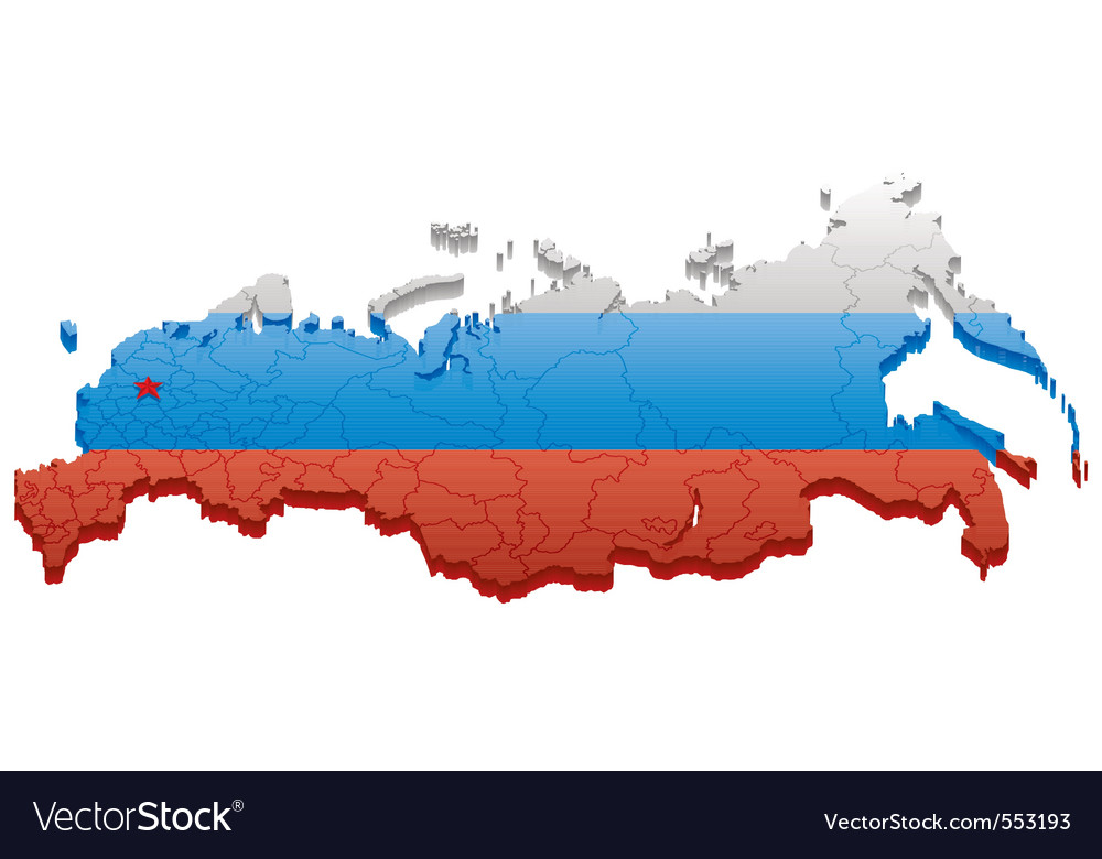 Map of russia vector | Price: 1 Credit (USD $1)