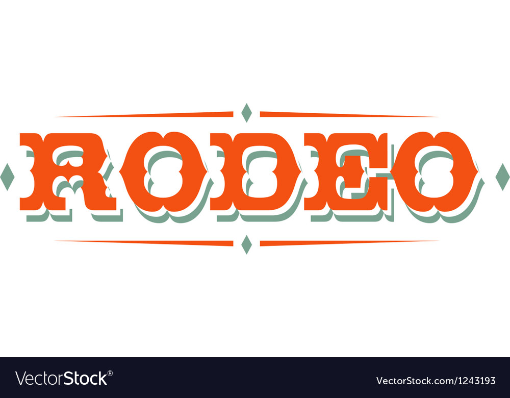Vintage rodeo signs vector | Price: 1 Credit (USD $1)