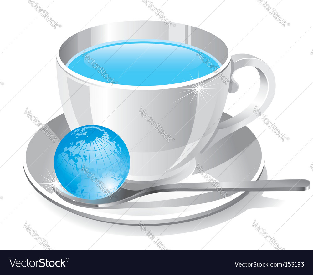 White cup of water vector | Price: 1 Credit (USD $1)