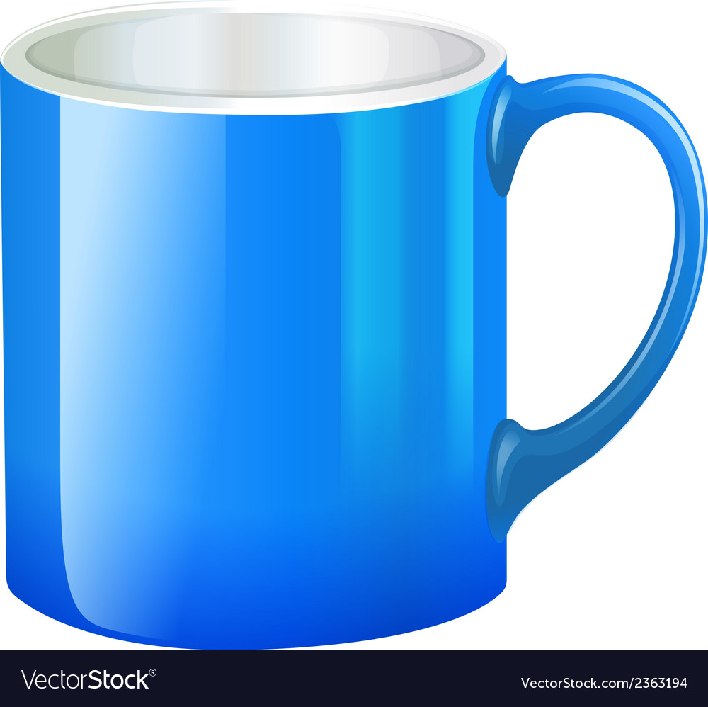 A blue mug vector | Price: 1 Credit (USD $1)