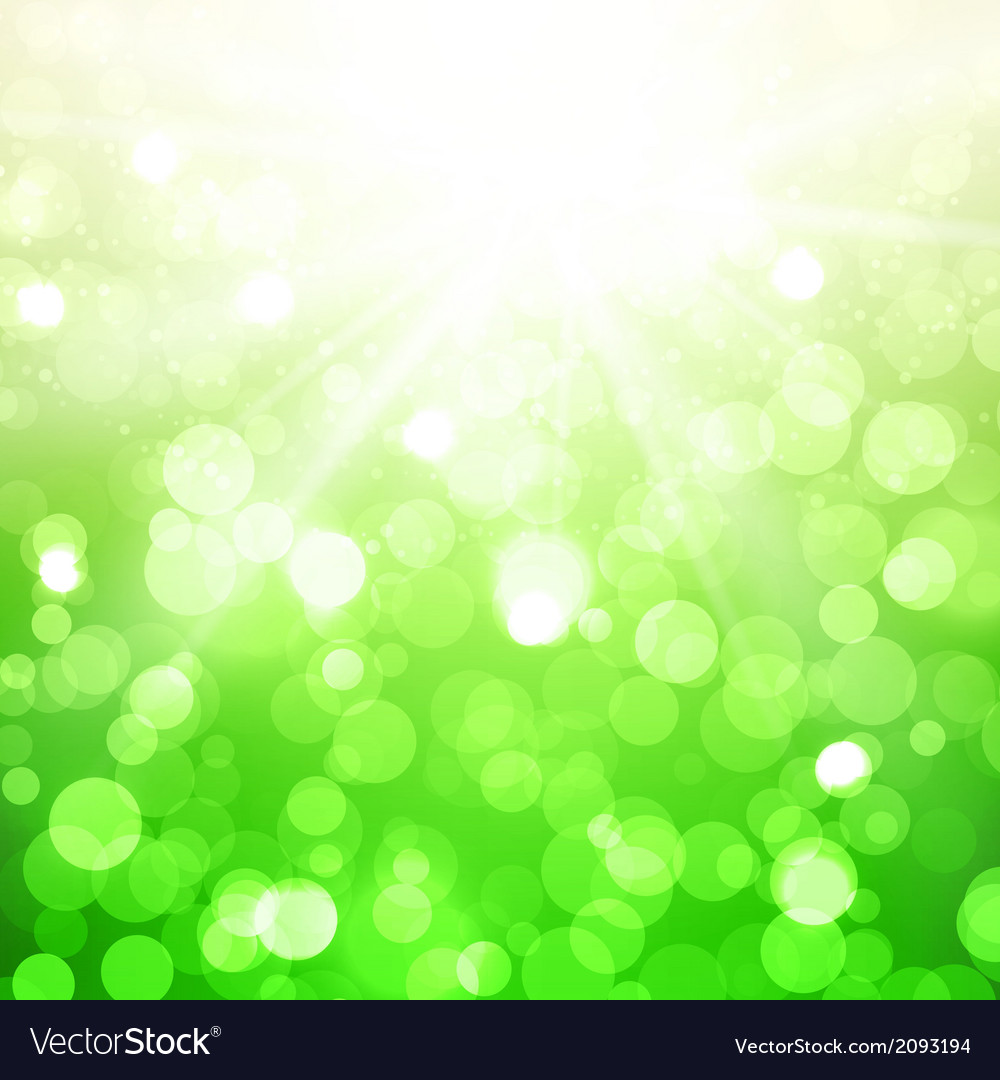 Blurred summer background with sun vector | Price: 1 Credit (USD $1)