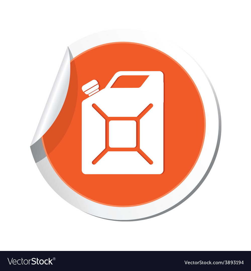 Canister orange label vector | Price: 1 Credit (USD $1)