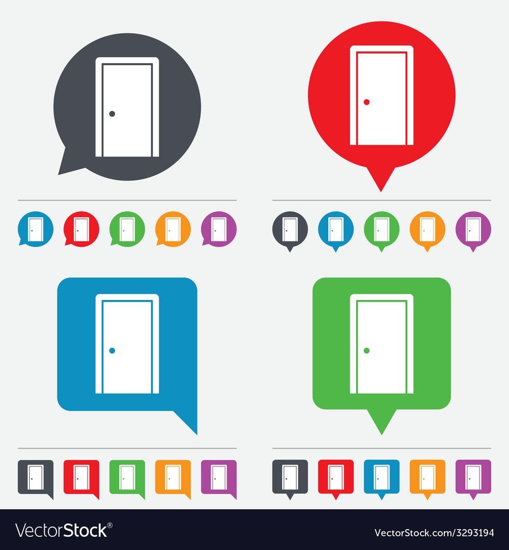 Door sign icon enter or exit symbol vector   Price: 1 Credit (USD $1)