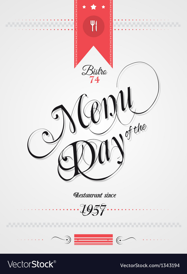 Old style vintage menu of the day background vector | Price: 1 Credit (USD $1)