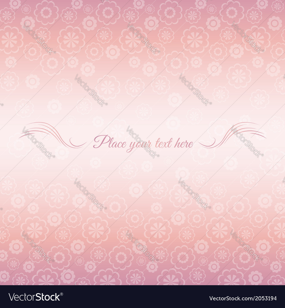 Pink background of flowers with place for message vector   Price: 1 Credit (USD $1)